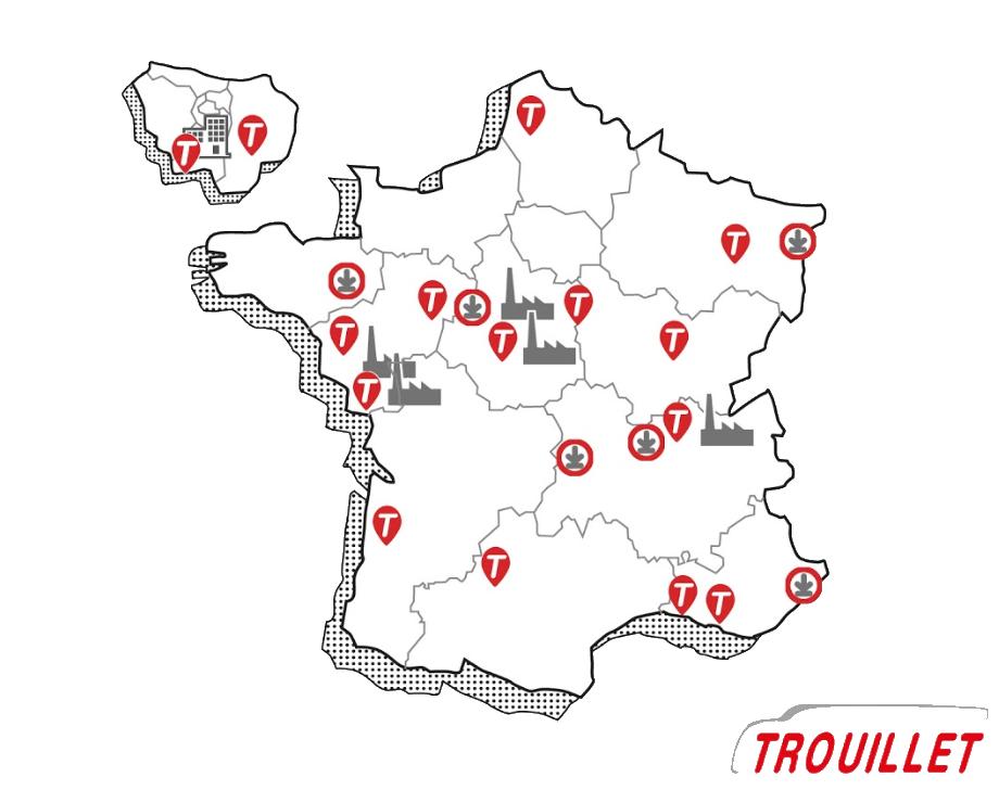 le réseau Trouillet Services offre un service de proximité s'appuyant sur l'expertise d'un vrai carrossier constructeur